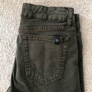 "Joe's Jeans - skinny jeans in ""military green"" EUC"